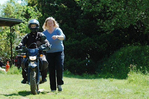 Motorradfrau