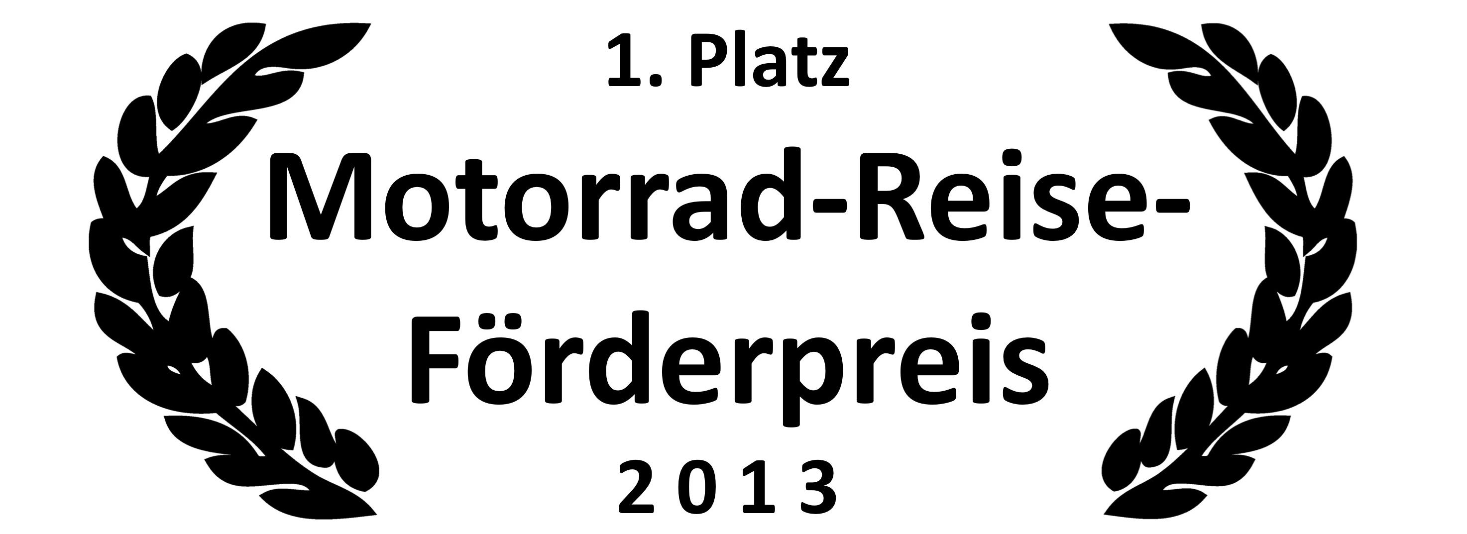 Motorrad Reise Förderpreis 2013