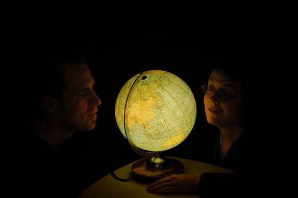 Sonja & Claudio vorm Globus