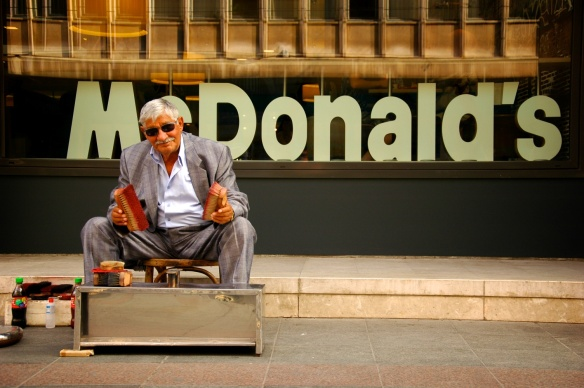 Schuhputzer McDonalds
